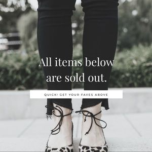 Other - ITEMS BELOW ARE SOLD OUT
